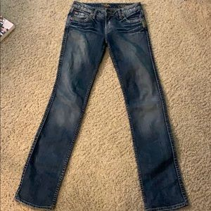 """90s vintage Size 26 silver """"Monica"""" jeans no flaws"""